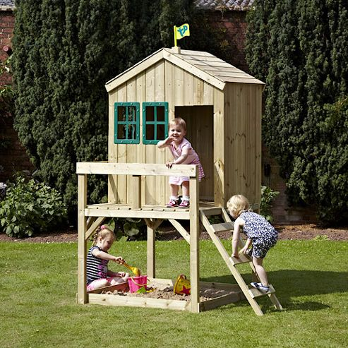 TP Forest Lodge Wooden Playhouse without Slide