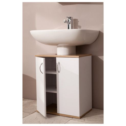 Buy two tone wood undersink cabinet from our bathroom for Bathroom cabinets tesco