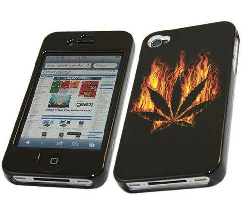 iTALKonline LEAF Fire SnapGuard Protection Case Black/Orange - For Apple iPhone 4