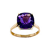QP Jewellers 3.60ct Amethyst Rococo Cushion Ring in 14K Gold