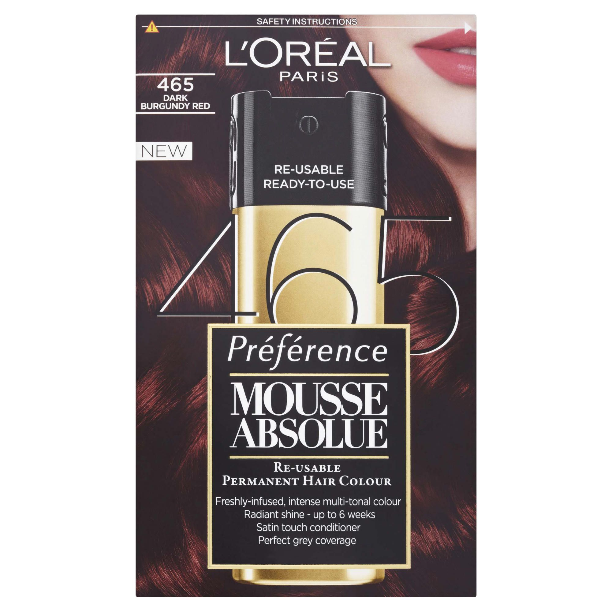 L'Oreal Mousse Absolute Dark Burgundy Red 465