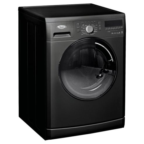Whirlpool WWCR9230B Washing Machine, 9kg Wash Load, 1200 RPM Spin, A++ Energy Rating, Black