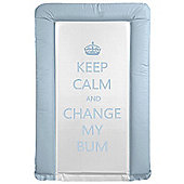 Babywise Baby Changing Mat - Keep Calm & Change My Bum (Blue)