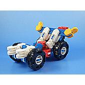 Transforming Robot Car Building Brick Set 47 pcs for 6 yrs+ Blue and White