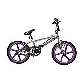 Rooster Big Daddy BMX Chrome with Purple Skyway Wheels