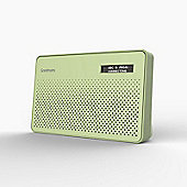 Goodmans Canvas DABFM Radio with Station Preset & LCD Display in Green