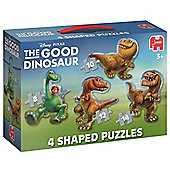 Jumbo Disney Pixar The Good Dinosaur 4 Shaped Jigsaw Puzzles