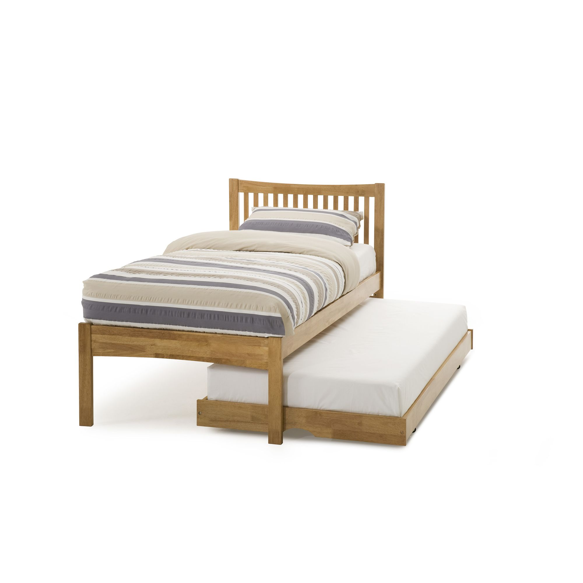 Serene Furnishings Mya Single Guest Bed - Honey Oak at Tesco Direct