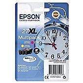 Epson DURABrite Ultra 27XL Ink Cartridge C13T27154010 Cyan Magenta Yellow Inkjet 1100 3 Pack