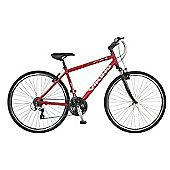 "22"" Viking Bayswater Front Suspension 24-Speed Alloy Mens' Bike, Red"