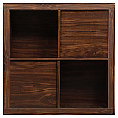 Tribeca 2 Shelf Cube Unit Walnut