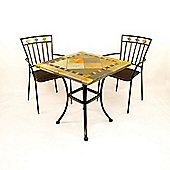 Europa Leisure Vinaros Square Standard Dining Set with Murcia Chairs - 2 Seat