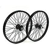 """20"""" BMX Alloy Black (Pair) 48 Spoke Wheel 14mm"""