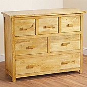 Homescapes Mangat Chest of 6 Drawers Oak Shade