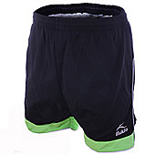 Bukta Odyssey Football Shorts Black / Lime / Silver All Sizes Available - Multi