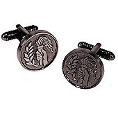 Medal Style Victory Torch Novelty Themed Cufflinks