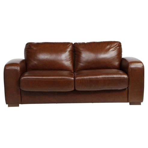 Idaho Sofabed Leather Antique Chestnut