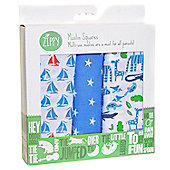 Zippy Muslin Squares in Stylish Blues (3 Pack, Gift Set) …