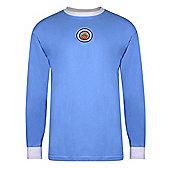 Man City 1970 Home LS Shirt - Sky blue