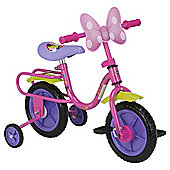 "Disney Minnie Mouse 10"" Kids' Bike with Stabilisers"