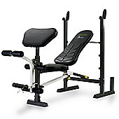 Tunturi Pure Compact Weight Bench and Rack with Folding Design