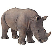 Large Realistic Life-like Standing Rhino Polyresin Garden Ornament