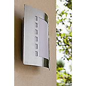 Faro Steel-5 One Light Outdoor Wall Lamp in Nickel Matte