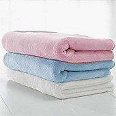 BabyDan Double Fleece Baby Blanket - Cream