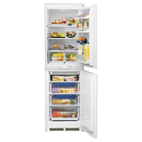 Hotpoint HM325FF1 Integrated Combi Fridge-Freezer, A+ Energy Rating, White, 54cm