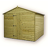 12ft x 8ft Premier Windowless Pressure Treated T&G Apex Shed + Higher Eaves & Ridge Height + Single Door