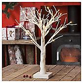 1.5ft Pre Lit Christmas Tree, White Glitter (24 white LEDs)