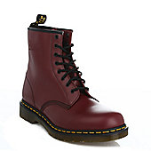 Dr. Martens 1460 Unisex Cherry Red SmoothLeather Ankle Boots - Red