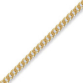 Jewelco London 9ct Solid Gold premium Curb Chain Necklace in 18 inch - 3.6mm gauge