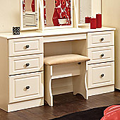Welcome Furniture Pembroke Kneehole Dressing Table - Cream