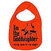 Dirty Fingers I'm the Goddaughter future head of the family Bib Orange