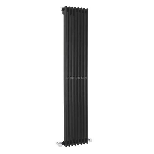 Hudson Reed Fin Vertical Single Panel Designer Radiator 1500mm x 304mm High Gloss Black