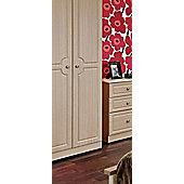 Welcome Furniture Pembroke Plain Wardrobe - Light Oak - 74 cm W
