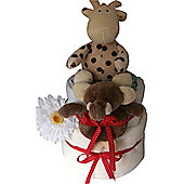 2 Tier Unisex Safari Nappy Cake
