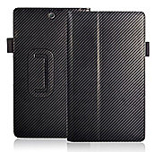 Orzly Sony Xperia Z3 Tablet Stand & Type Case - Carbon Fibre Black