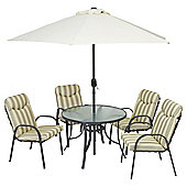 Provence 6-piece Garden Furniture Set with Parasol
