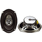 Ground Zero Radioactive 6900P 6x9 Triaxial Car Speakers