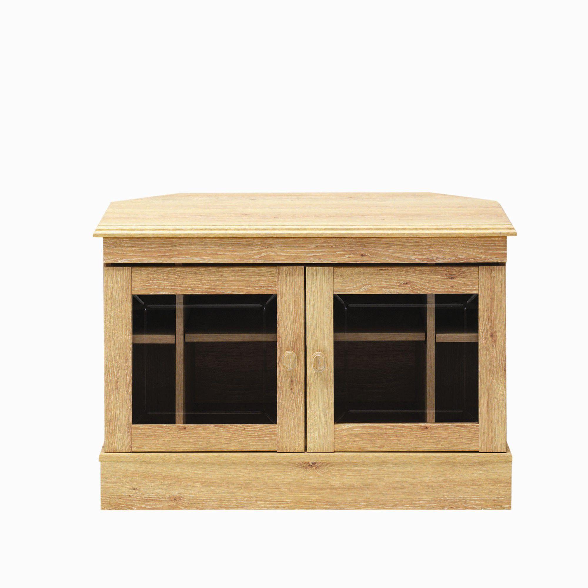 Caxton Driftwood Wooden Corner TV Cabinet at Tesco Direct