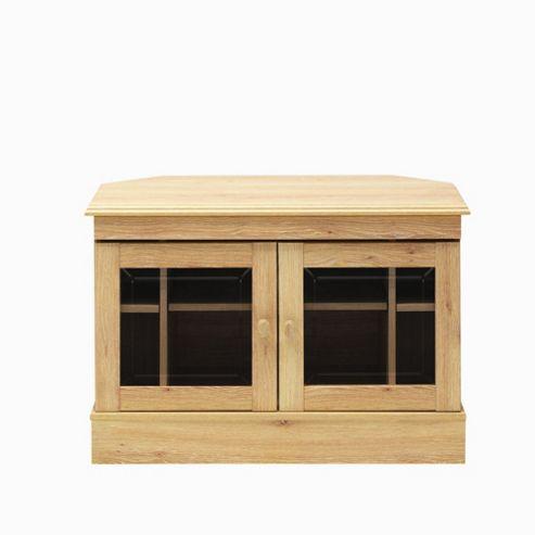 Caxton Driftwood Wooden Corner TV Cabinet