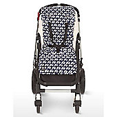 Outlook Cotton Travel Comfy Pram Liner (Navy Elephant)