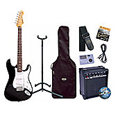 Encore E6 Beginners Black Guitar Pack