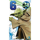 Star Wars 6th Birthday Card
