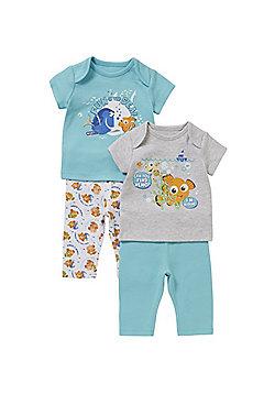 Disney Pixar Finding Nemo 2 Pack of Pyjamas - Blue & Grey