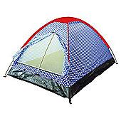Tesco 2-Person Festival Tent, Polka Dot