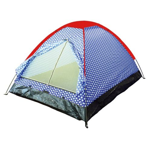 Tesco 2-Person Festival Tent, Polka Dot