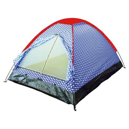 Tesco 2-Man Festival Tent, Polka Dot